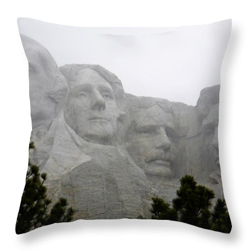 Mount Rushmore Throw Pillow featuring the photograph Magnificent Mount Rushmore by Nicole Crabtree