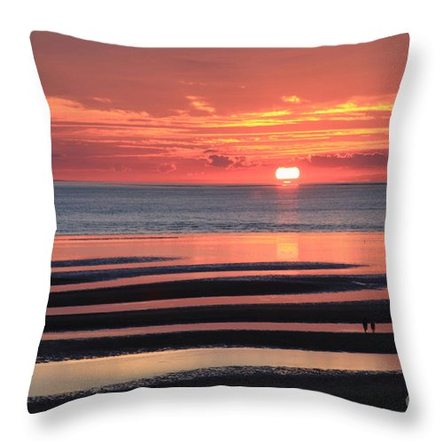 Sunset Throw Pillow featuring the photograph Magnificent Sunset by Jayne Carney