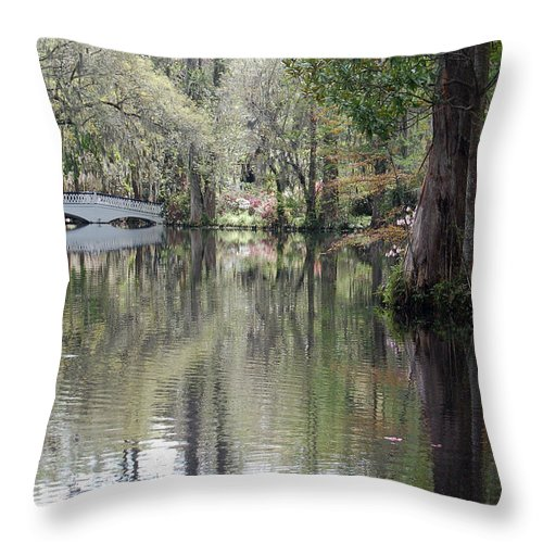 Magnolia Plantation Garden Throw Pillow featuring the photograph Magnolia Plantation Gardens Series II by Suzanne Gaff