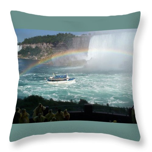 Boat Throw Pillow featuring the photograph Maid Of The Mist -41 by Barbara McDevitt