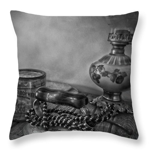 Lamp Throw Pillow featuring the photograph Maids Counter by The Artist Project
