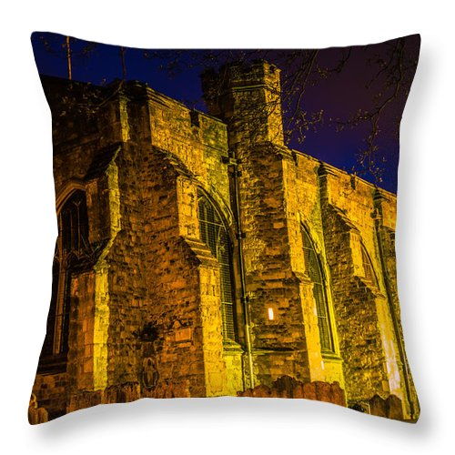 Maidstone Church Throw Pillow featuring the photograph Maidstone Church by Dawn OConnor
