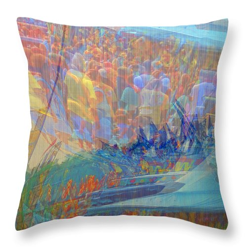 Abstract Throw Pillow featuring the photograph Main Fairway by Marcia Lee Jones