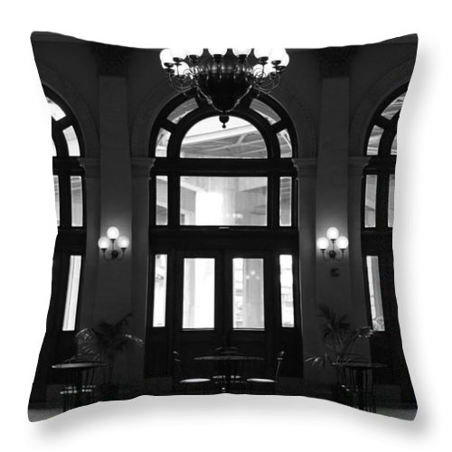 Richmond Throw Pillow featuring the photograph Main Street Station by Tina Meador