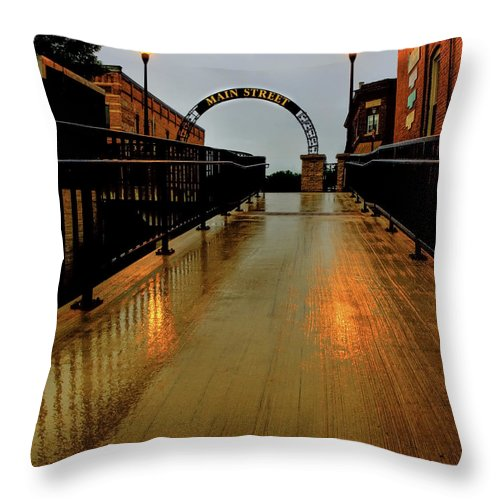 Main Street Throw Pillow featuring the photograph Main Street by Thomas Young