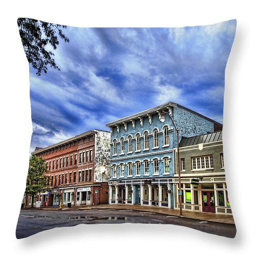 Architecture Throw Pillow featuring the photograph Main Street Usa by Tom Mc Nemar