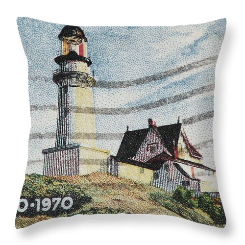 Maine Throw Pillow featuring the photograph Maine 1820-1970 by Andy Prendy