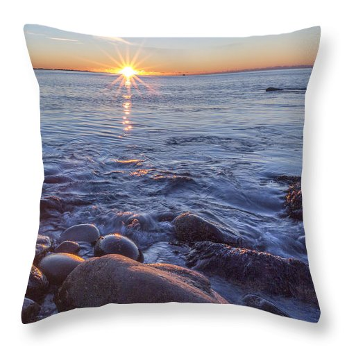 Vertical Throw Pillow featuring the photograph Mainly Water by Jon Glaser