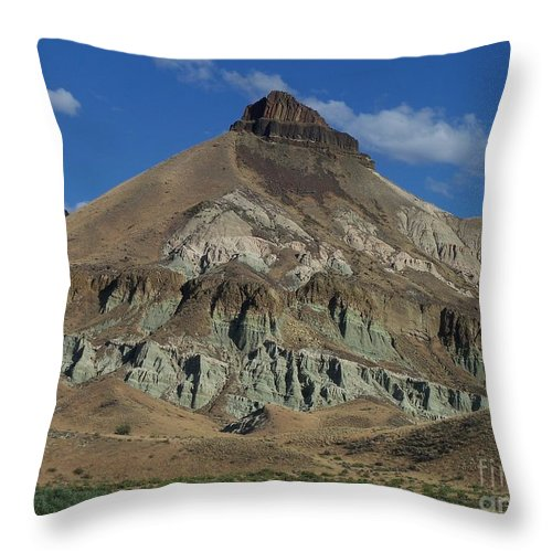 Majestic Rimrock Throw Pillow featuring the photograph Majestic Rimrock by Chalet Roome-Rigdon