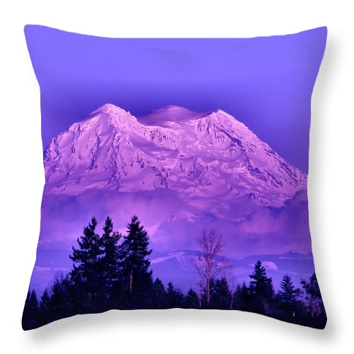 Landscape Throw Pillow featuring the photograph Majestic by Rory Sagner