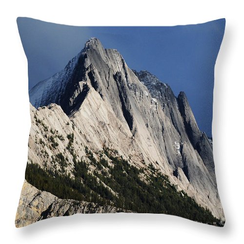 Mountain Throw Pillow featuring the photograph Majesty In The Canadian Rockies by Vivian Christopher