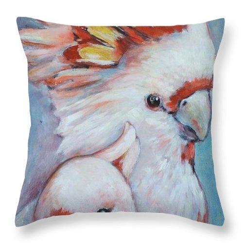 Ekaterina Mortensen Throw Pillow featuring the painting Major Mitchell Mates 2 by Ekaterina Mortensen