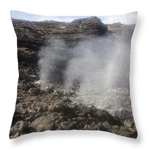 Blow Throw Pillow featuring the photograph Makapuu Tidepools by Brandon Tabiolo