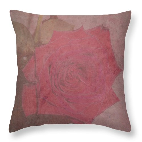 Rose Throw Pillow featuring the photograph Make An Impression by Adri Turner