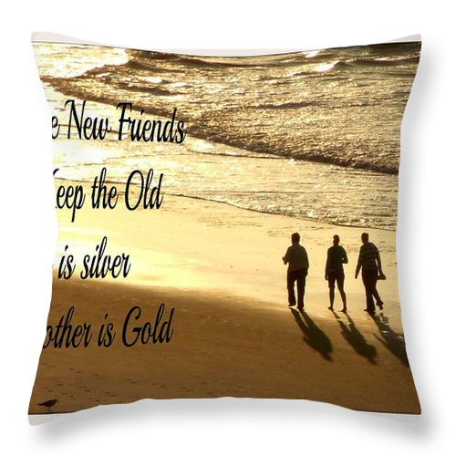 Friend Throw Pillow featuring the photograph Make New Friends Keep The Old by Gail Matthews