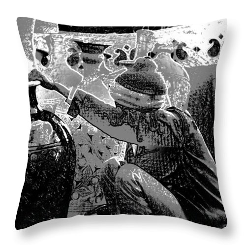 Artisan Throw Pillow featuring the digital art Making The Final Beauty Marks On A Vase by Ashish Agarwal