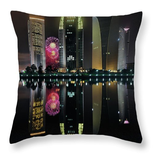 Tranquility Throw Pillow featuring the photograph Malaysia 56th Independence Day by Photography By Azam Alwi