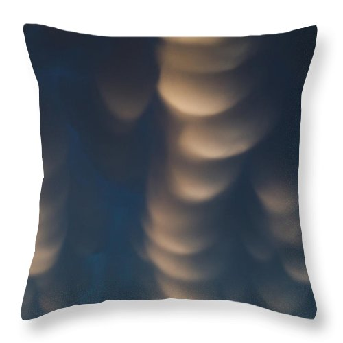 Rural Throw Pillow featuring the photograph Mammatus Clouds by Mike Hollingshead