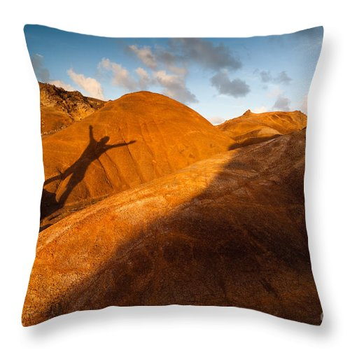 Man Throw Pillow featuring the photograph Man On Mars by Matteo Colombo