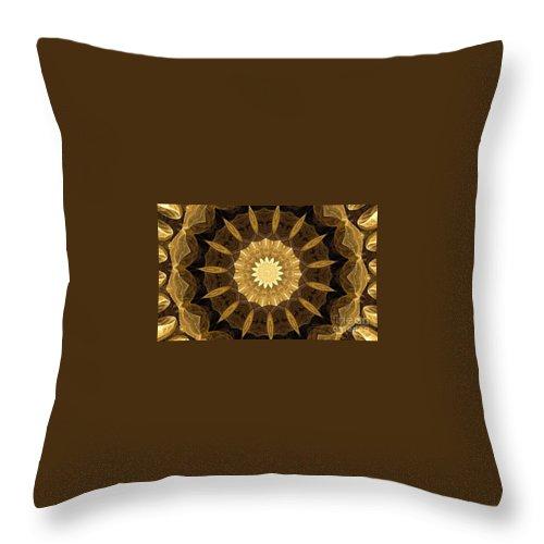 Mandala 014-1 Throw Pillow featuring the digital art Mandala 014-1 by Maria Urso