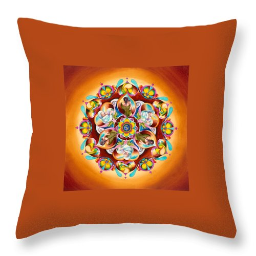 Mother Earth Throw Pillow featuring the painting Mandala For Moms by Vikki Reed
