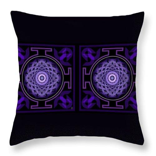Stereogram Throw Pillow featuring the digital art Mandala Hypurplectic - Stereogram by David Voutsinas