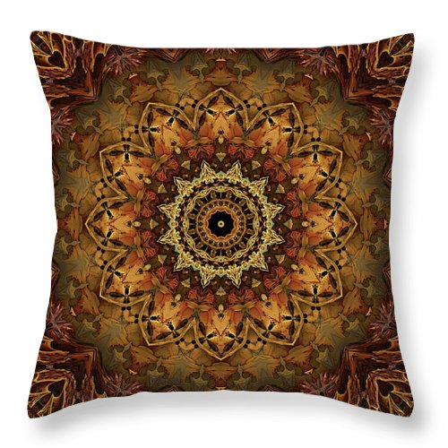 Bones Throw Pillow featuring the digital art Mandala Of Bones by Anthony Weinedel