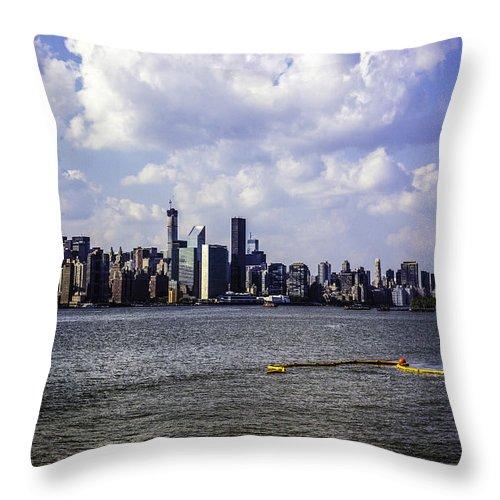 Manhattan Throw Pillow featuring the photograph Manhattan On My Mind by Madeline Ellis