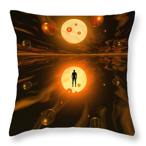Vertical Throw Pillow featuring the digital art Mankinds Ability To Harness Atomic by Mark Stevenson