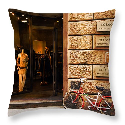 Florence Throw Pillow featuring the photograph Mannequin by Mick Burkey