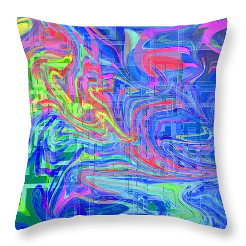 Map Throw Pillow featuring the digital art Map #4a by Chas Hauxby