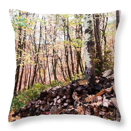 Trees Throw Pillow featuring the photograph Maples by Southwindow Eugenia Rey-Guerra