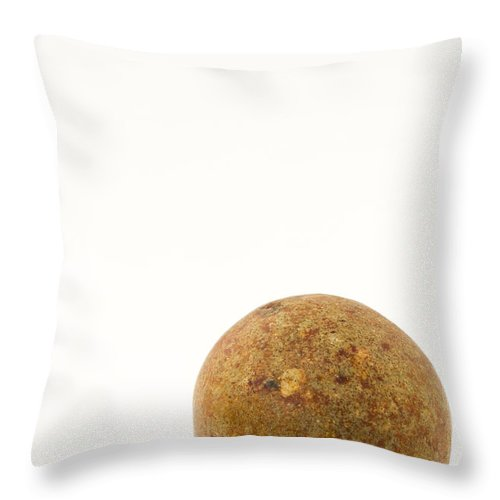 Clay Throw Pillow featuring the photograph Marble Clay 1 A by John Brueske