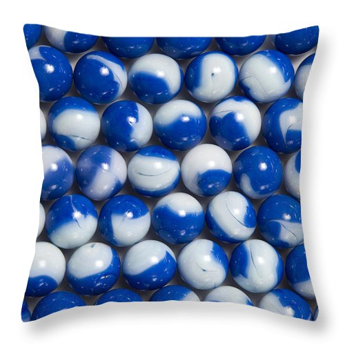 Glass Throw Pillow featuring the photograph Marble Collection 11 by John Brueske