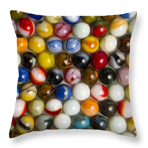 Glass Throw Pillow featuring the photograph Marble Collection 16 by John Brueske