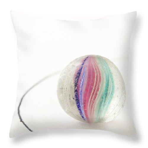 Glass Throw Pillow featuring the photograph Marble German Handmade 2 by John Brueske