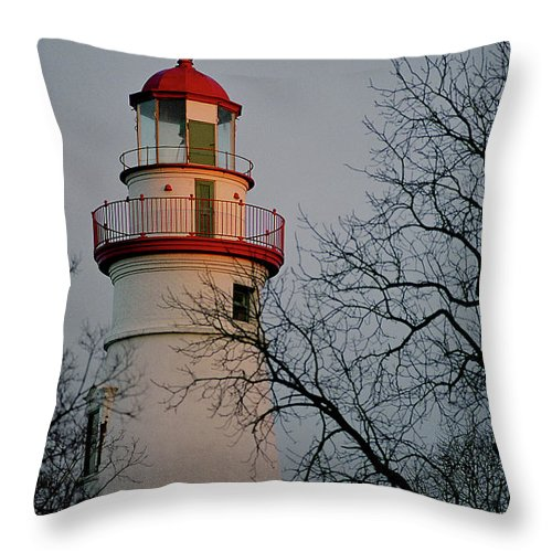 Marine Throw Pillow featuring the photograph Marblehead Lighthouse On Lake Erie by John Harmon