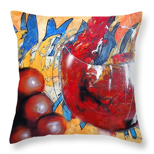 Expressionism Throw Pillow featuring the painting Marcello's Way by Marcello Cicchini