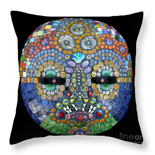 Mosaic Mask Throw Pillow featuring the photograph Marge by Valerie Fuqua