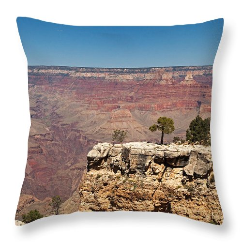 Afternoon Throw Pillow featuring the photograph Maricopa Point Grand Canyon National Park by Fred Stearns