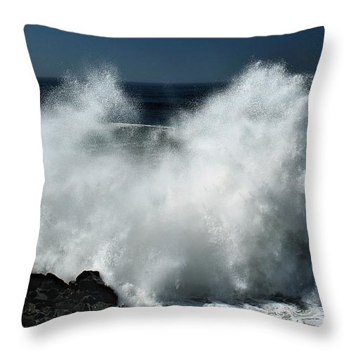 Hurricane Throw Pillow featuring the photograph Marie In Her Glory by Michael Gordon