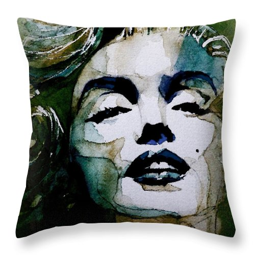 Marilyn Monroe . Legend Throw Pillow featuring the painting Marilyn No10 by Paul Lovering