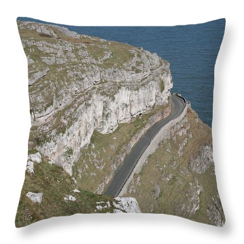 Marine Throw Pillow featuring the photograph Marine Drive by Christopher Rowlands