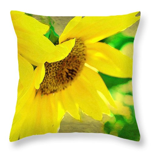 Mark Twains Sunflowers Throw Pillow featuring the photograph Mark Twain's Sunflowers by Luther Fine Art