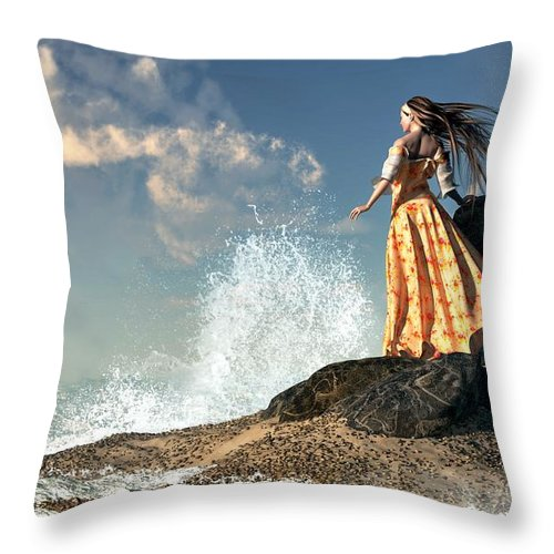 Marooned Throw Pillow featuring the digital art Marooned by Daniel Eskridge