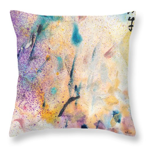 Marsh Throw Pillow featuring the painting Marsh #2 by Janet Gunderson