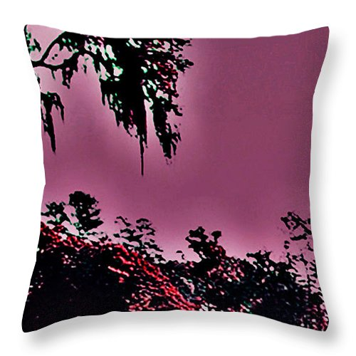 Landscape Throw Pillow featuring the photograph Martian Gardens by Theresa Cummings
