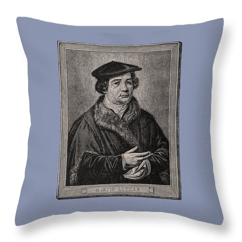 Martin Luther Throw Pillow featuring the photograph Martin Luther by Phil Cardamone