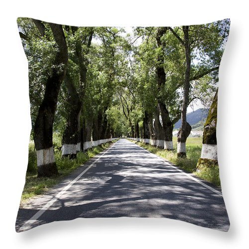 Horizontal Throw Pillow featuring the photograph Marvao Portugal by Jim Wallace