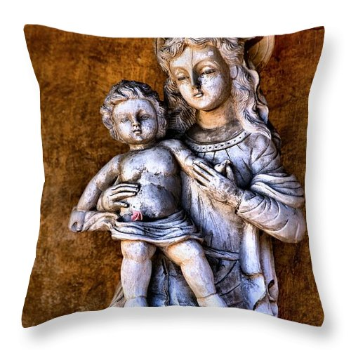 Mary And Jesus Throw Pillow featuring the photograph Mary And Jesus by Scott Hill